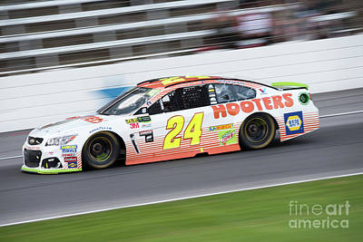 Sports Royalty-Free and Rights-Managed Images - Chase Elliot at speed by Paul Quinn