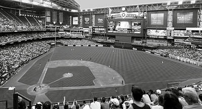 Photograph - Chase Field 2015 2 Bw by C H Apperson