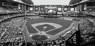 Photograph - Chase Field 2015 Bw by C H Apperson