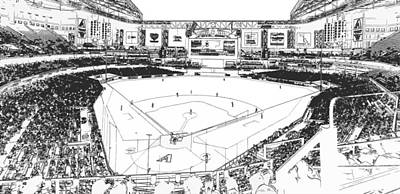 Photograph - Chase Field 2015 Line Drawing by C H Apperson