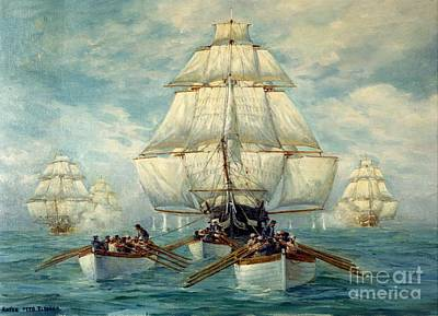 Chase Of The U.s.s. Constitution Original by Frederick Holiday