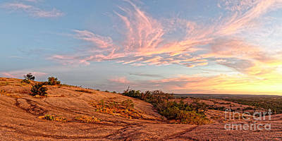Photograph - Chasing Angels Of Light Over Enchanted Rock - Fredericksburg Texas Hill Country by Silvio Ligutti