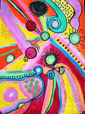 Mixed Media - Chasing Bubbles by Victoria Hasenauer