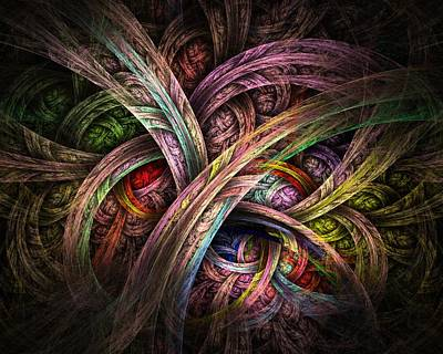 Art Print featuring the digital art Chasing Colors - Fractal Art by NirvanaBlues