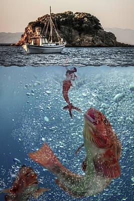 Little Mermaid Digital Art - Chasing Dreams by Solomon Barroa
