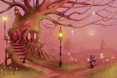 Painting - Chasing Fairies by Joe Gilronan