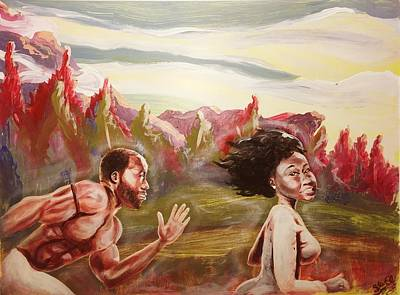 Painting - Chasing Love by Sean Ivy aka Afro Art Ivy
