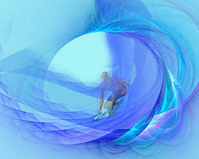 Apophysis Mixed Media - Chasing Mavericks by Edelberto Cabrera