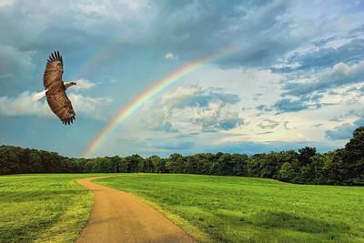 Photograph - Chasing Rainbows Bald Eagle Art By Jai Johnson by Jai Johnson