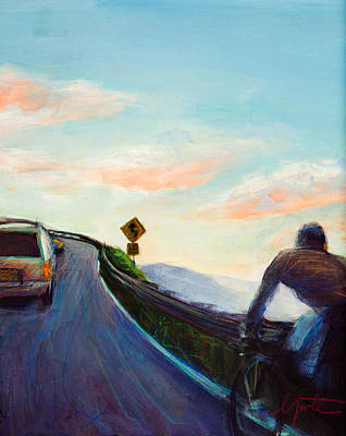 Chasing Sunset Print by Athena  Mantle