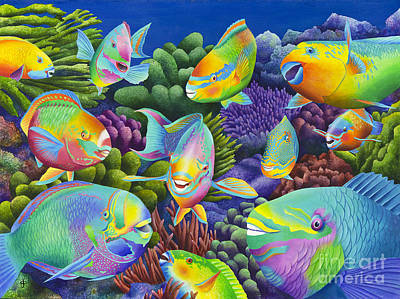 Fishy Painting - Send In The Clowns by Carolyn Steele