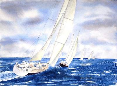 Painting - Chasing The Fleet by Diane Kirk