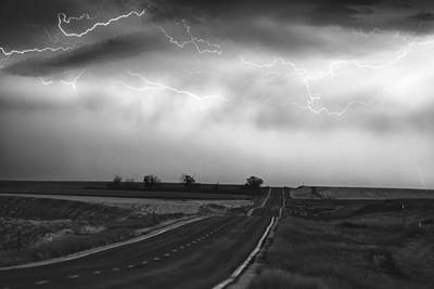 Chasing The Storm - County Rd 95 And Highway 52 - Colorado Art Print