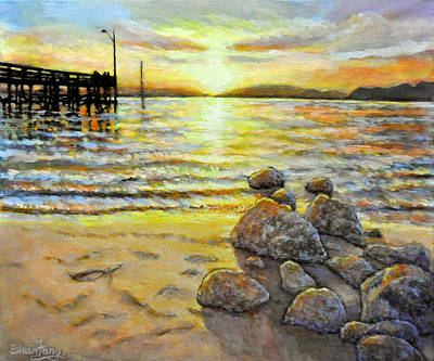 Chasing The Sunset Original by Eileen  Fong