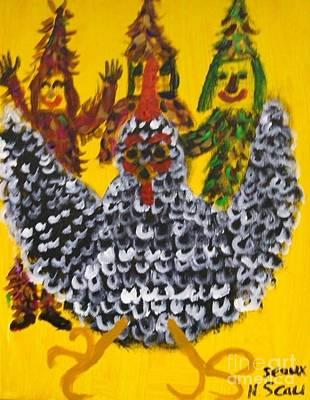 Mardi Gras Painting - Chasing The Zanga by Seaux-N-Seau Soileau