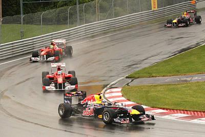 Photograph - Chasing Vettel by Art Ferrier