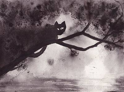 Painting - Chat Dans L'arbre by Marc Philippe Joly