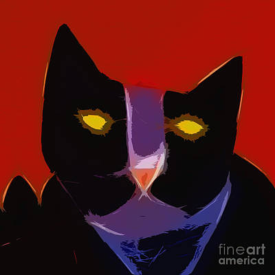 Digital Art - Chat Noir by Lutz Baar