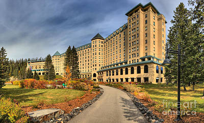 Photograph - Chateau Lake Louise Panorama by Adam Jewell