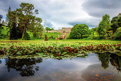 Photograph - Chateau Across The Lake At Powerscourt Gardens by Debra and Dave Vanderlaan