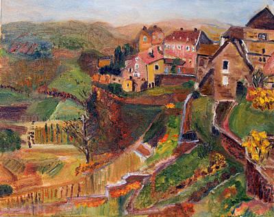Chateau Chalon Art Print