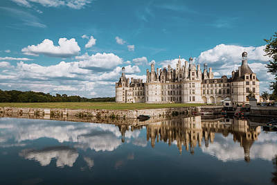 Photograph -  Chateau De Chambord Loir Et Cher Departament France by Arnaud Scherer