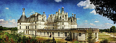 Photograph - Chateau De Chambord - Side View - Vintage Version by Weston Westmoreland