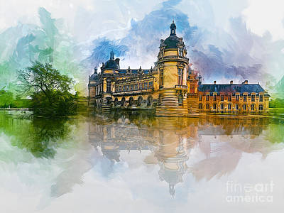 Chateau De Chantilly Art Print
