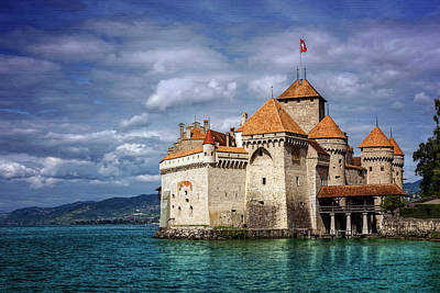 Castle Photograph - Chateau De Chillon Montreux Switzerland  by Carol Japp