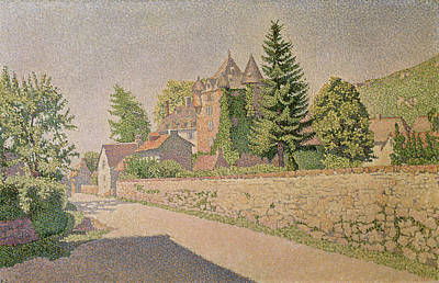 1887 Painting - Chateau De Comblat by Paul Signac