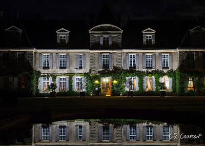 Photograph - Chateau De Curzay At Night by CR  Courson