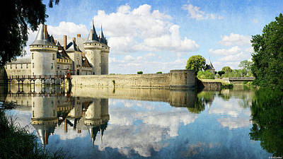 Photograph - Chateau De Sully Sur Loire In The Sun - Vintage Version by Weston Westmoreland