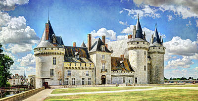 Photograph - Chateau De Sully Sur Loire - Vintage Version by Weston Westmoreland