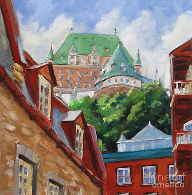City Scape Painting - Chateau Frontenac by Richard T Pranke