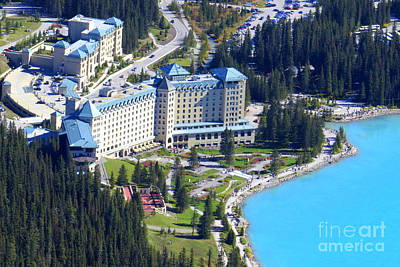 Photograph - Chateau Lake Louise by Frank Townsley