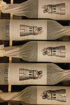 Of Wine Bottles Photograph - Chateau Latour by French School