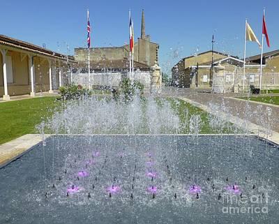 Photograph - Chateau Leoville Poyferre Fountain by Barbie Corbett-Newmin