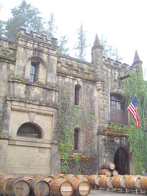 Wine Country Photograph - Chateau Montelena Napa by Kathleen Fitzpatrick