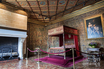 Catherine De Medici Photograph - Chateau Of Chenonceau Catherine De Medici Bedroom by Yefim Bam