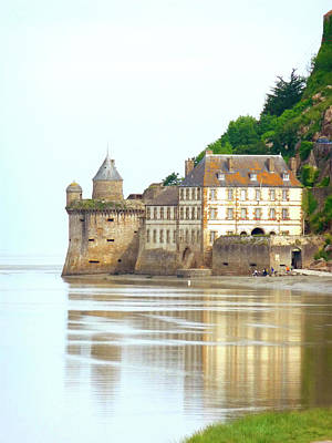 Chateau On Mont St-michel Art Print