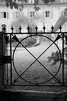Vevey Photograph - Chateau Series, Garden Gate by Colleen Williams