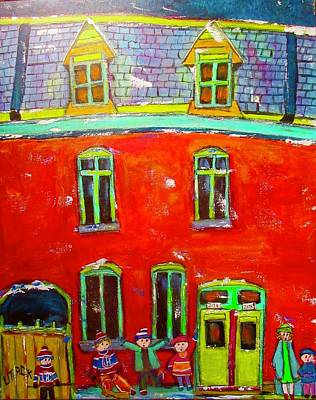 Painting - Chateauguay Row Houses In The Point by Michael Litvack