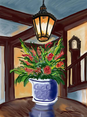 Painting - Chatham Bars Inn Table Arrangement by Jean Pacheco Ravinski