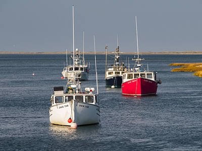 Photograph - Chatham Harbor Boats I by Marianne Campolongo