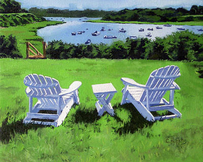 Chatham Harbor Painting - Chatham Harbor Massachusetts by Christine Hopkins