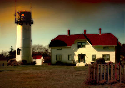 Chatham Lighhouse Art Print by Gina Cormier