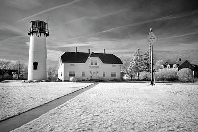 Photograph - Chatham Light Black And White by Luke Moore