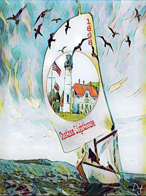 Chatham Lighthouse Cape Cod Art Print by Patricia DOYLE Olson
