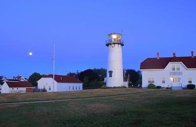 Chatham Lighthouse Moonset Art Print