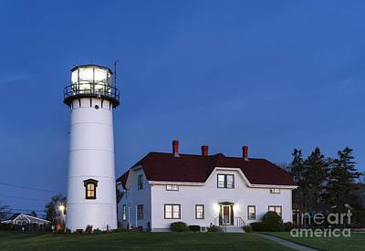 Chatham Lighthouse Photograph - Chatham Lighthouse Night by John Greim